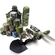 1 Roll Fashionable Elastic Design Waterproof Outdoor Camo Hiking Camping Hunting Camouflage Stealth Tape Wraps