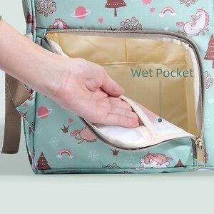 Image 4 - Sunveno Mommy Diaper Bag Large Capacity Baby Nappy Bag Designer Nursing Bag Fashion Travel Backpack Baby Care Bag for Mother Kid