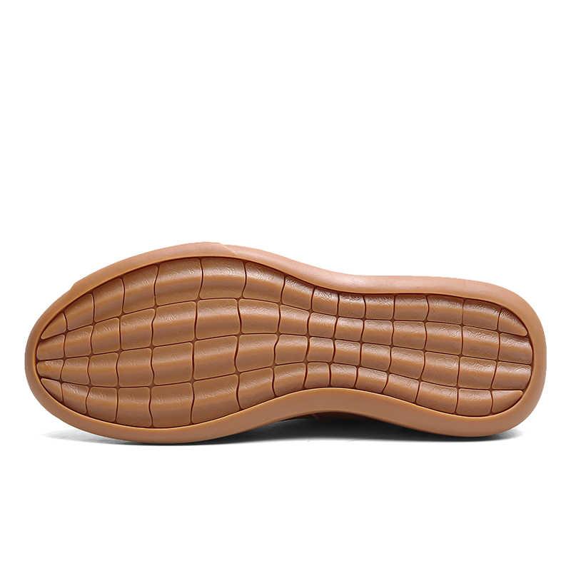 גברים עור מגפי אופנה צאן גברים של אתחול נעלי חורף/סתיו מגפי פשוט סגנון נגד החלקה קרסול מגפיים גברים סניקרס