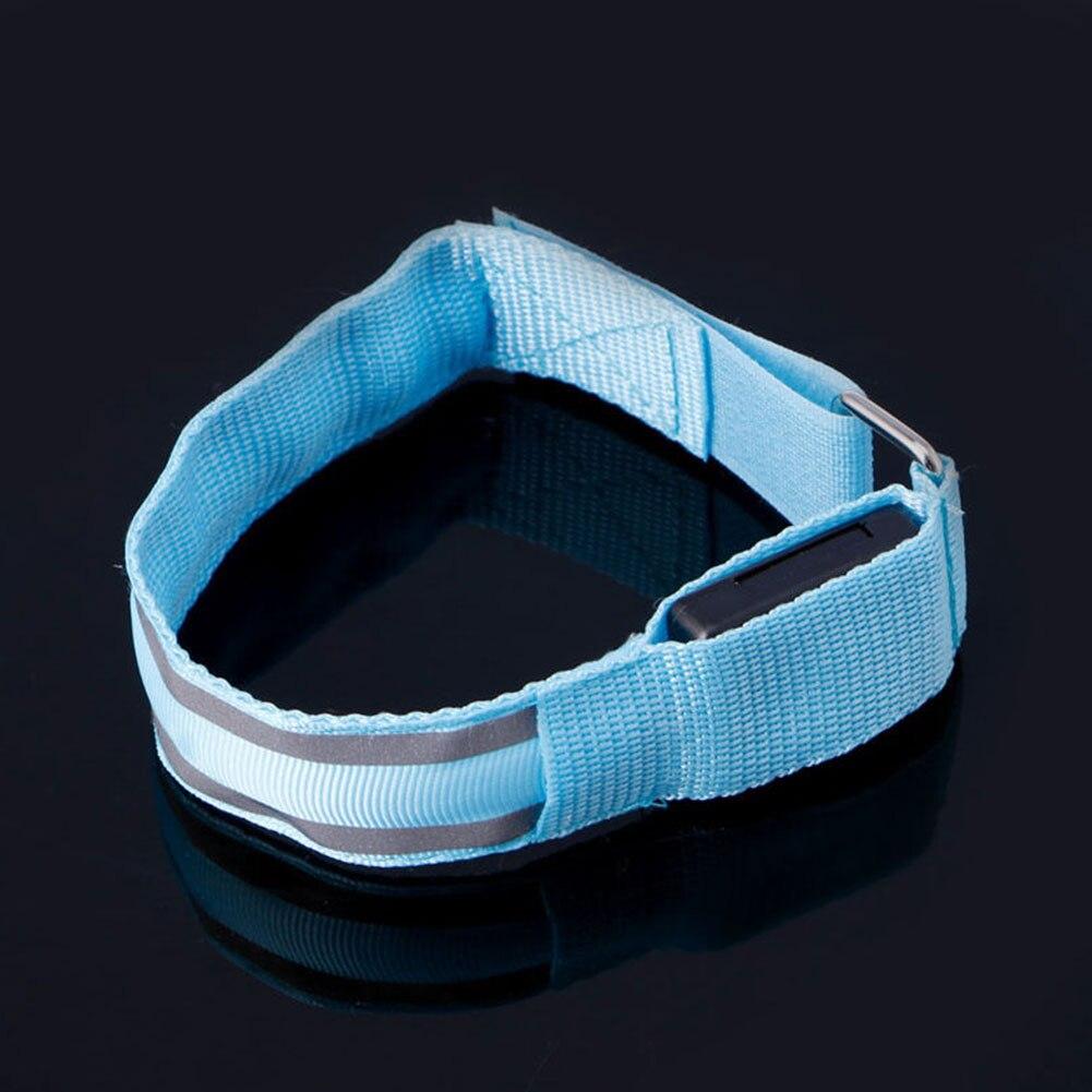 New Arm Warmer Belt Bike LED Luminous Armband LED Safety Sports Reflective Belt Strap Snap Wrap Light Up Arm Band Armband #63