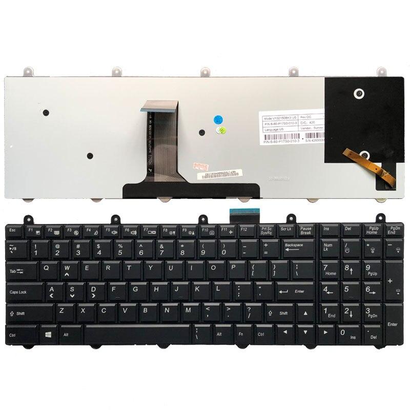 New FOR Clevo P655HP3-G P650HP3 P670HS-G Keyboard US Colorful Backlit Crystal
