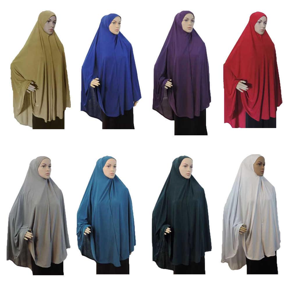 Muslim Women Prayer Dress Hijab Long Scarf Abaya Islam Large Overhead New