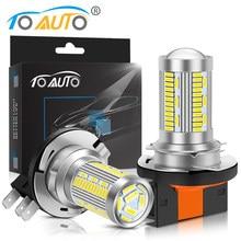 2Pcs H15 LED Canbus Day Running Lights Car Headlight Bulbs 8000Lm DRLs Driving Light 6000K White For Mazda VW Audi BMW 12V