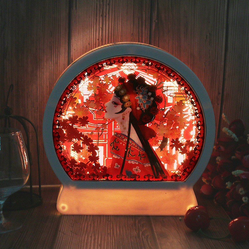 ABS Frame Papercut Light Boxes Led Night Lamp 3D Paper Sculptures Night Light Of Creative Shadow Paintings Valentine's Day Gift
