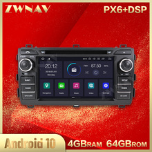 PX6 4+64 IPS screen Android 10.0 Stereo Car Multimedia Player for Toyota Auris 2013 2014 2015 car Radio GPS Navi Audio head unit