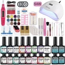 Gel Nail Polish Kit With UV LED Dryer Lamp Manicure Set Nail Tools Kit For Manicure Set For Gel Varnish