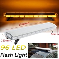 Car Roof LED Strobe Light 96LED Emergency Warning Roof Top Strobe Light Police Amber Car Fire Truck Roof Work Light Bar Offroad