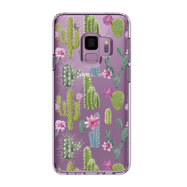 Cute Cactus Floral Cover for Samsung Phones