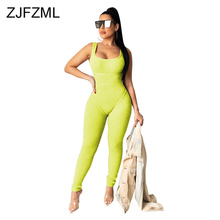 Sexy Sleeveless Bandage Romper Women Backless Solid Bodycon Party Bodysuit Ladies Scoop Neck Solid One Piece Plus Size Jumpsuits sexy square neck solid color button embellished sleeveless romper for women