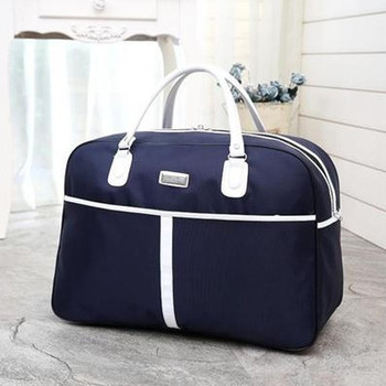 Women Overnight Weekend Traveling Bag Ladies Stripe Handbag Big Travel Bag Light Luggage Men Foldable Duffle Bags Korean Bags & Shoes