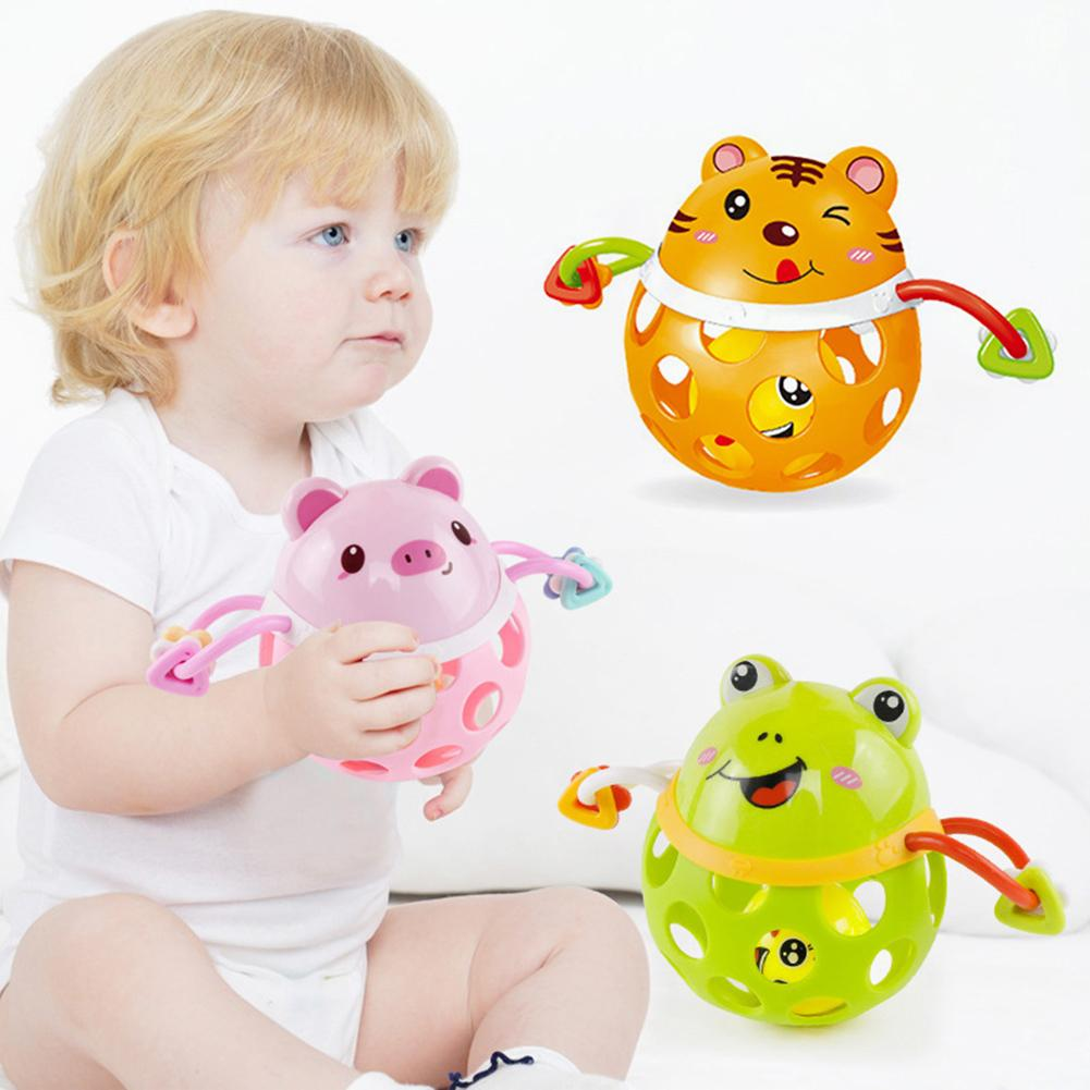 Cartoon Animal Soft Baby Rattle Ball Hand Grip Bell Developmental Teething Toy Kids Educational Toys For Children Gift