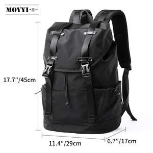 Image 5 - MOYYI  New Fashion Mens Backpack School Bag Mens travel Bags Large Capacity Travel Waterproof 14 15.6 inch Laptop Backpack