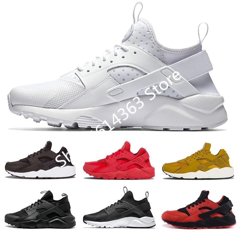 2020 Huarache Ultra 4.0 Hurache Running Shoes For Men Triple White Black Huraches Sports Huaraches Sneakers Harache Mens Shoes