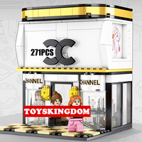 City street view Brand fashion store moc building block model figures assemable bricks collection education toys collection