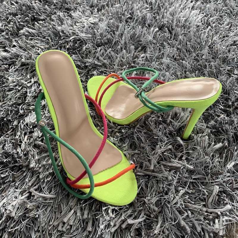 2020 Donne di Estate Sandali Cinturino Alla Caviglia Scarpe Tacco Alto per Le Donne Sexy Peep Toe Sandali Degli Alti Talloni Del Partito Scarpe da Sposa donna