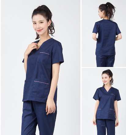 2020 Summer Women Hospital Medical Scrub Clothes Set Fashionable Design Slim Fit Dental Scrubs Beauty Salon Men Nurse Uniform