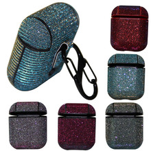 Earbud Case Bluetooth Wireless Earphone Glitter Sparkle Stars Bling Case Cover Skin Case Cover Skin for Apple AirPods 1th