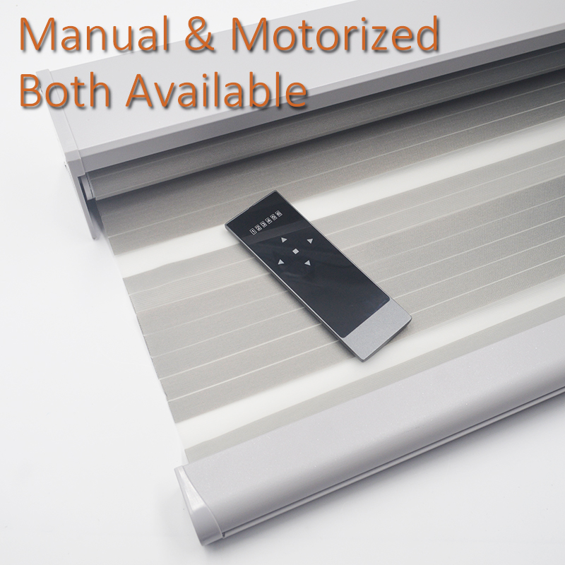 Smart Matters Motorized Window Zebra Blinds Shades Pale Woven Day Night Rolleing Curtains For Living Room Bedroom Customize Size
