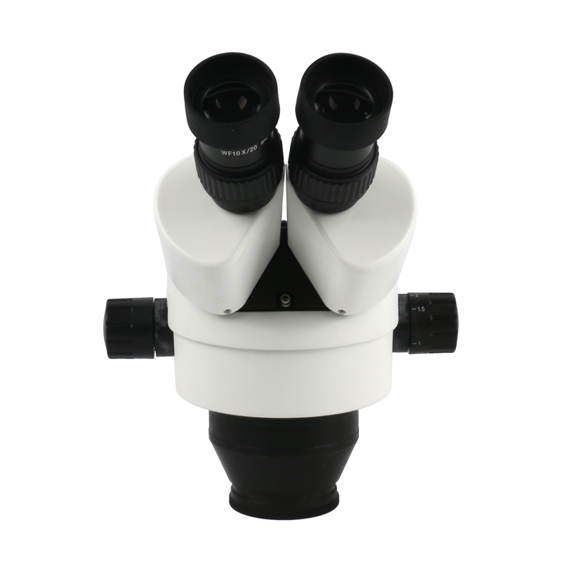 Image 4 - 7X   45X Continuous Zoom Magnification Stereo Microscope Industrial Binocular Microscope LED Ring Light For Phone PCB Solderingmicroscope industrialbinocular microscopestereo microscope -