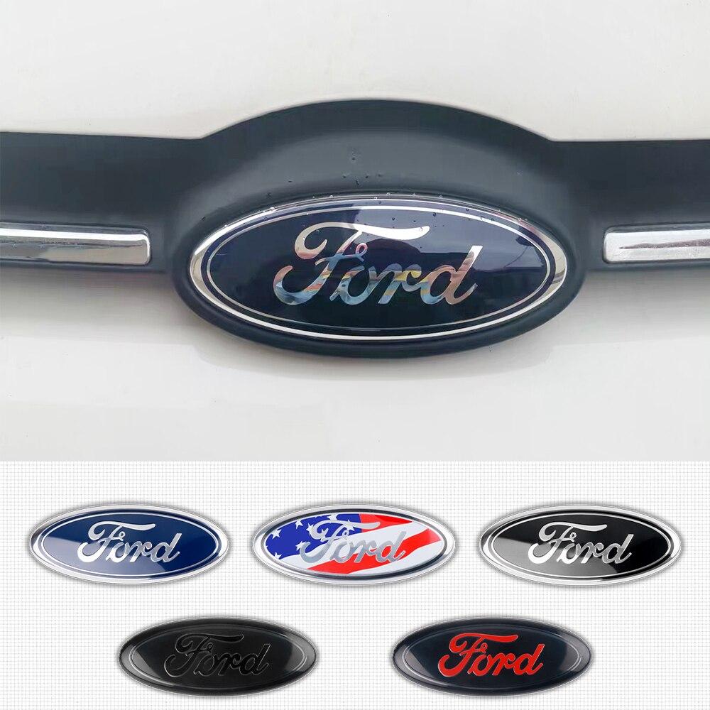 3D voiture style capot avant capot capot emblème arrière coffre Badge autocollant pour Ford Fiesta EcoSport escorte focus 1 3 2 accessoires
