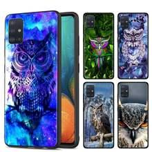 Telefon Fall für Samsung Galaxy M10s M20 M30s M40 M11 M21 M31 M31s M50 M01 Weiche Shell Abdeckung Tier Eule fällen