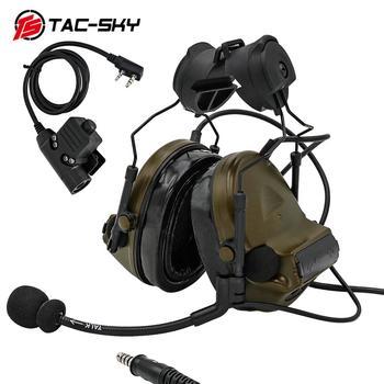 TAC -SKY COMTAC COMTAC II Helmet Bracket Edition Noise Reduction Military Shooting  Tactical Headset and PTT Tactical PTTu94ptt tac sky helmet arc track stand headset comtac ii military tactical noise reduction shooting headset and tactics ptt u94 ptt bk