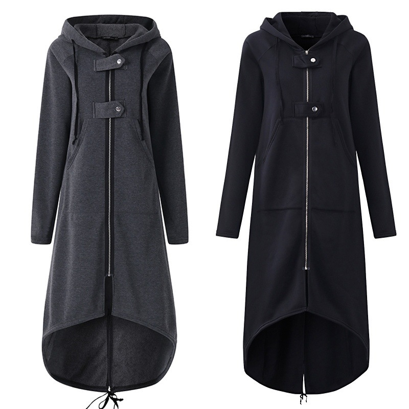 Spring High Quality Long Style Women's Zipper Coat 2020 Comfortable Corduroy Long Sleeve Casual Street Wear Hoodie