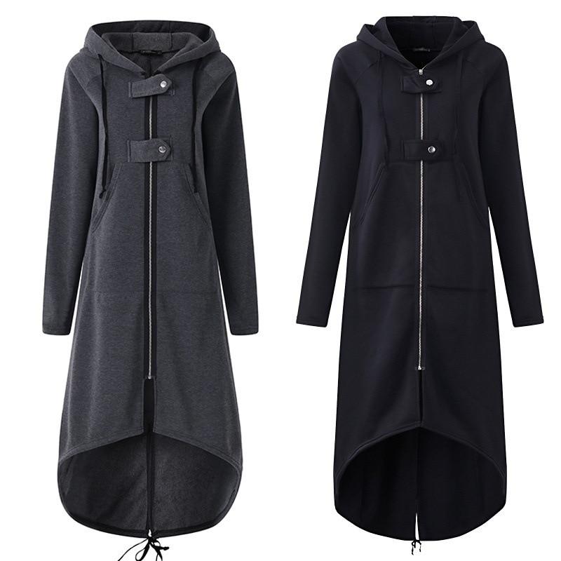 Spring High Quality Long Style Women's Zipper Coat 2020 Comfortable Corduroy Long Sleeve Casual Street Wear Hoodie