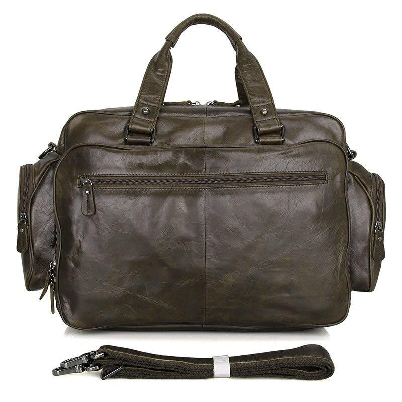 Мужской портфель для ноутбука, мужской портфель из натуральной кожи с задним ремешком, мужской портфель, сумки