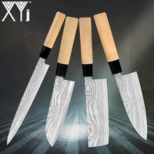 Chef-Knife Sushi Wood-Handle Bones-Slice Cutting Bread-Fruits Meat Stainless-Steel Professional