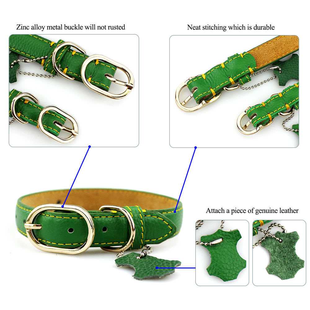 dog genuine leather collar (4)