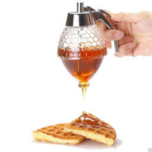 aa 200ML Honey Juice Syrup Dispenser Practical Acrylic Pot Jar 1 Cup Bee Hive with Trigger Kitchen Accessories