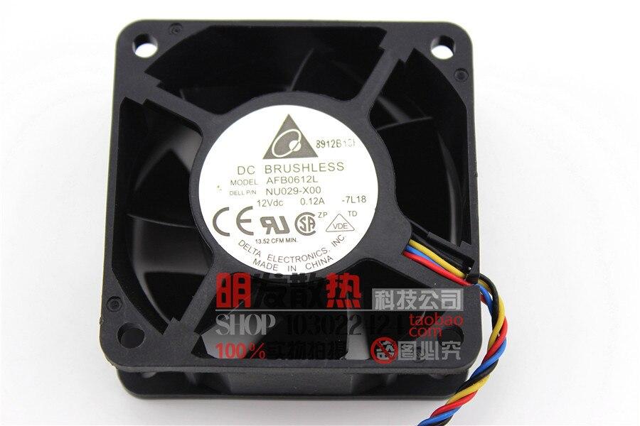 6025 12V 0612L 0.12A 6CM 6 cm 4 fil température contrôle armoire silencieuse ventilateur