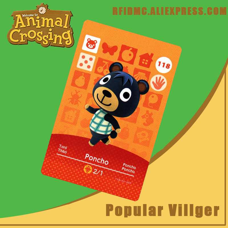 118 Poncho Animal Crossing Card Amiibo For New Horizons