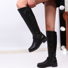 Retro Black Brown Cowgirl Boots Women Shoes Woman Good Leather Mid-calf Winter Bohemian Knight Botas Mujer