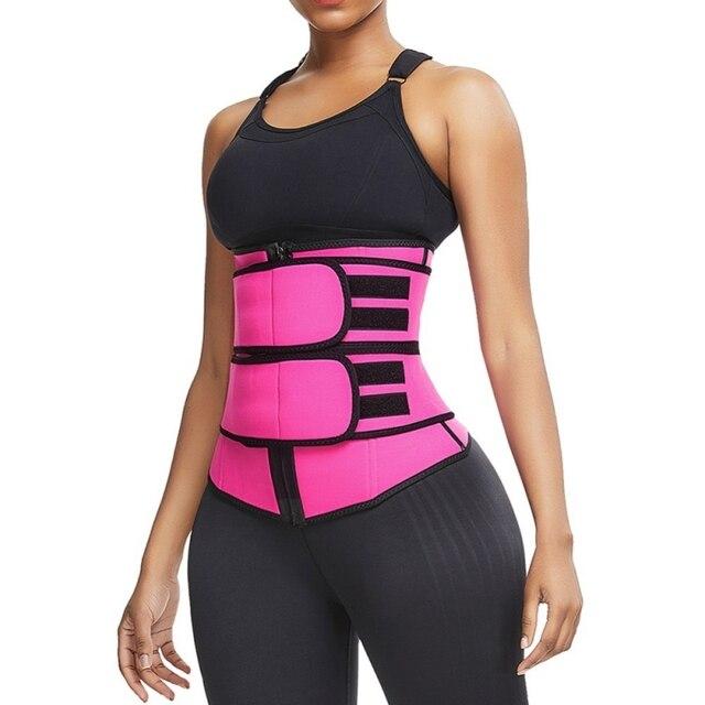 Women Weight Loss Lumbar Shaper Workout Trimmer Belt Steel Boned Waist Corset Trainer Sauna Sweat Sport Girdle Cintas Modeladora 5