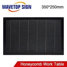 WaveTopSign לייזר כוורת עבודה שולחן 350*250mm גודל לוח פלטפורמת לייזר חלקי CO2 לייזר חרט מכונת חיתוך