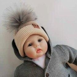 Детские зимние шапки gorros para bebe, детская шапка для малышей, шапочки для мальчиков и девочек, аксессуары с помпоном