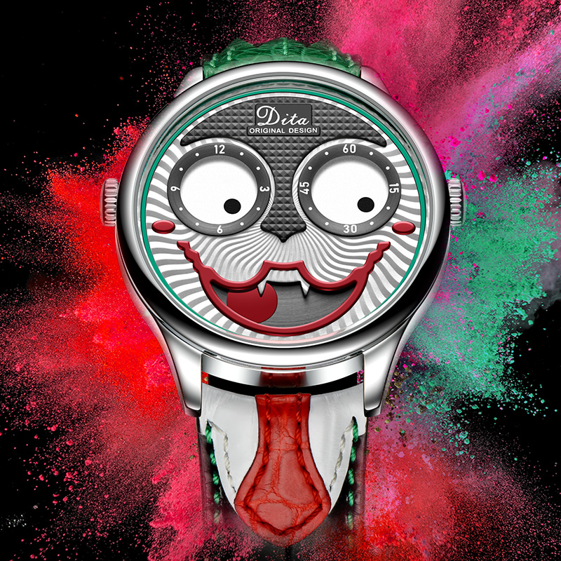2020 New Fashion Funny Mens Watches Top Brand Luxury Big Dial Joker Quartz Watch Leather Waterproof Sport Chronograph Watch Men