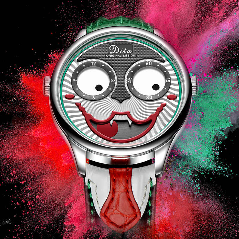 Nueva llegada 2019 reloj con motivo de Joker para hombre, marca de lujo, moda, aleación de aleación, relojes de cuarzo para hombre, edición limitada, reloj de diseñador