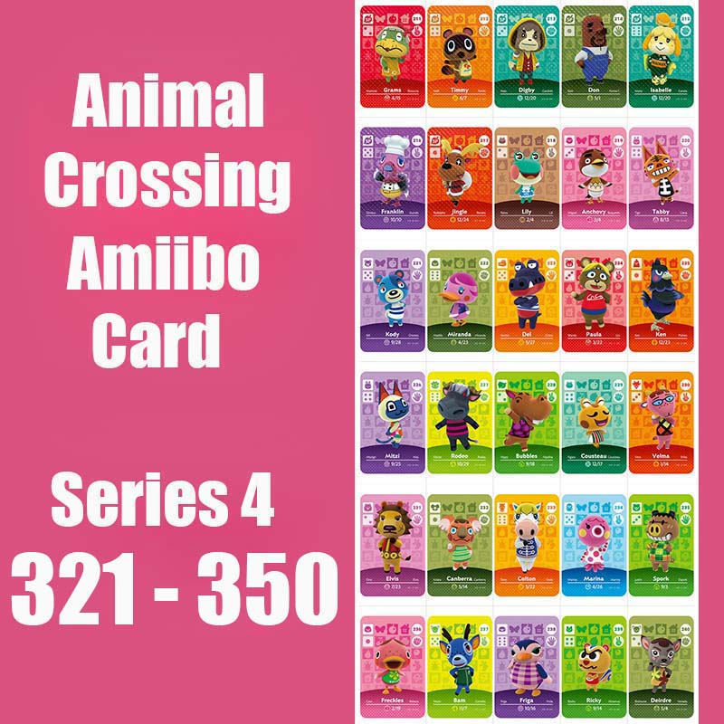Series 4 #321-350 Animal Crossing Card Amiibo Card Work For NS 3DS Games Series 4 Dropshipping Animal Crossing Amiibo Card