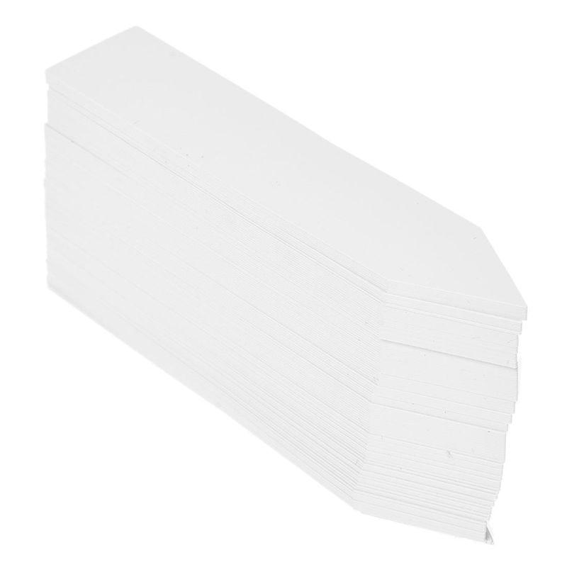 100 Pcs Plastic Plant Seed Labels Pot Marker Nursery Garden Stake Tags 10cm X 2cm (White)