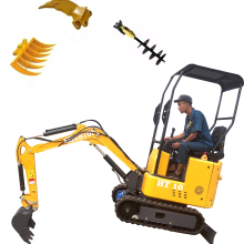 Мини-экскаватор 1 тонна микро маленький Диггер с резиновой дорожкой для садовой строительной машины