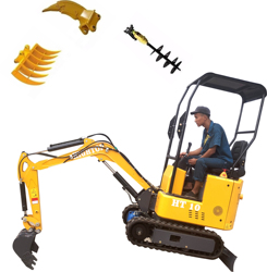 Mini Excavator 1ton micro Small Digger with Rubber Track for garden construction machine