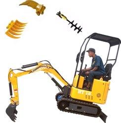 Mini Graafmachine 1ton micro Kleine Digger met Rubber Spoor voor tuin bouw machine