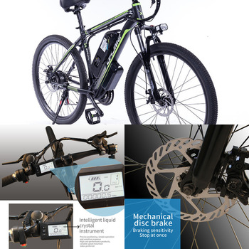 Tire size: 26/27.5/29 inch C6 F Aluminum Electric Mountain Bike 7 Speed E-Bike 48V Lithium Battery 350W Electric Bicycle 1