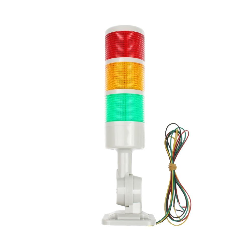 3 Layers Rotatable 180 Stack Light Red Warning Light Industrial For CNC Machine DC 24V 12V AC220V 110V Steady Flashing Light LED