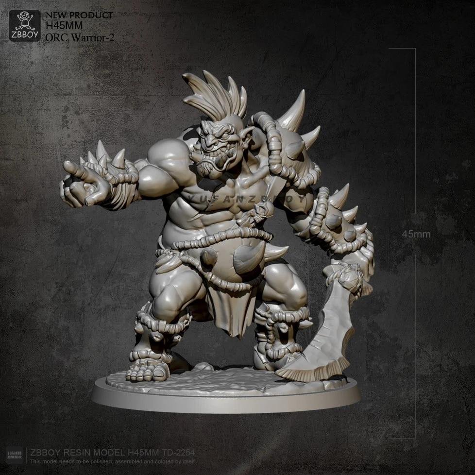 Resin Figure Model Kit Orc and Goblin Team Warriors Unpainted Unassambled