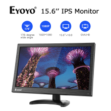 Eyoyo EM15Y 15.6'' IPS Screen Monitor TV Computer Display FHD 1920x1080 With AV VGA BNC USB HDMI Monitor For PC Security Camera