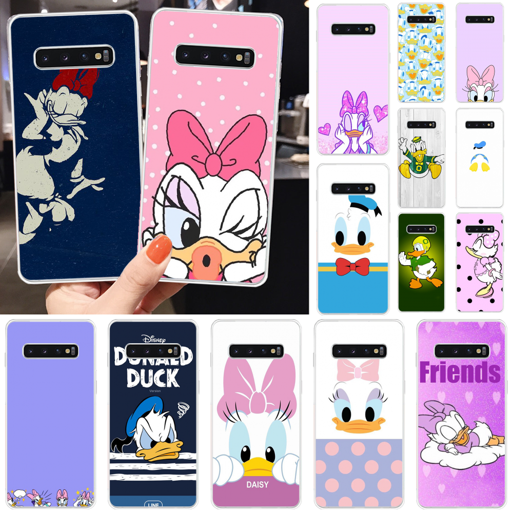 BaweiTE Donald Duck and Daisy Multi Colors Luxury <font><b>Phone</b></font> Cover for <font><b>Samsung</b></font> S10 S10 Plus S9 S9 Plus S8 S8plus S7 <font><b>S6</b></font> Mobile <font><b>Cases</b></font> image